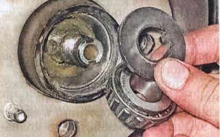 Как заменить подшипник коленвала ВАЗ 2105 2106 2107: установка упорных полуколец на задней опоре