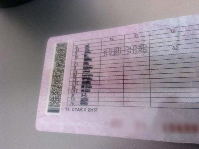 Что обозначает отметка AS в водительском удостоверении нового образца? Расшифровка и категории