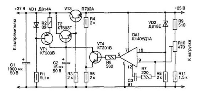 Cтабилизатор напряжения 12 вольт для светодиодов в авто своими руками