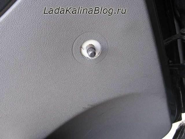 Как снять обшивку задней и других дверей на Ладе Калине