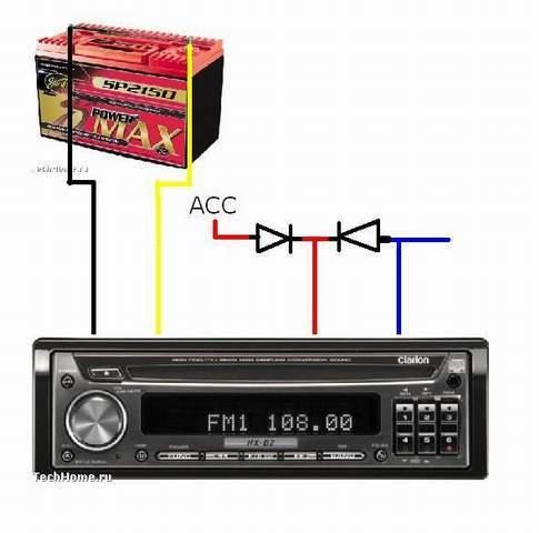Подключение магнитолы Пионер по цветам проводов, схема и видео инструкция