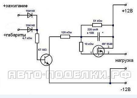 Плавное включение и выключение фар на ВАЗ 2110 своими руками