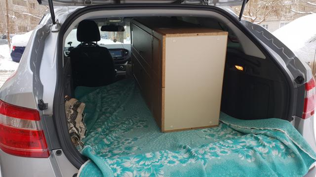 Багажник на Ладе Веста СВ Кросс его объемы, размеры и фотографии