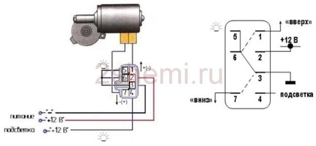 Описание стеклоподъемников на ВАЗ 2114, схема подключения, ремонт и замена