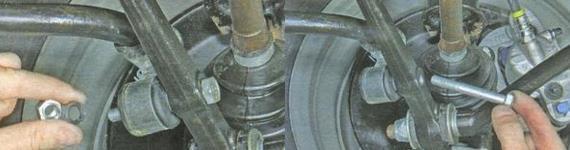 Замена элементов стабилизатора поперечной устойчивости Lada Granta