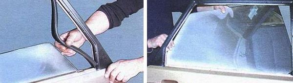 Как вставить стекло задней двери ваз 2109