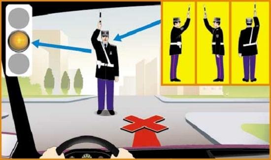 ВСЕ сигналы регулировщика в картинках с пояснениями и комментариями