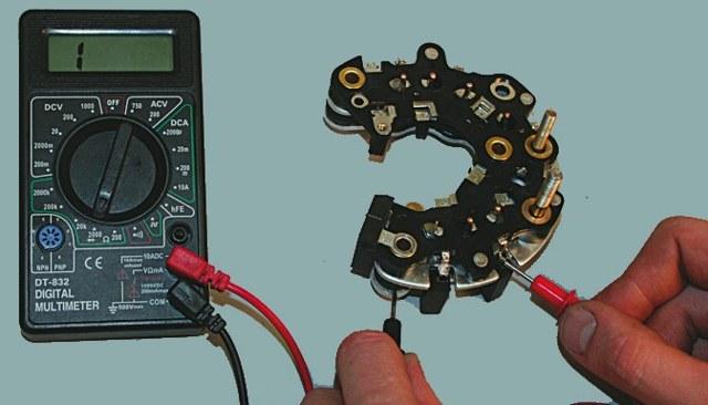 Как прозвонить генератор ваз 2110 мультиметром