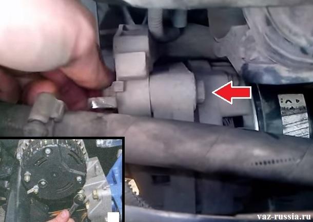 Замена генератора Приора 16 клапанов своими руками видео